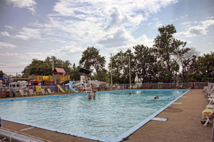 piscine camping turmel